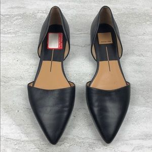 Dolce Vita Black Leather Flats Size 8.5